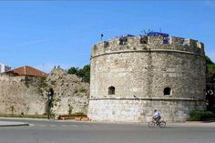 Ancient fortifications in Durrës, Albania