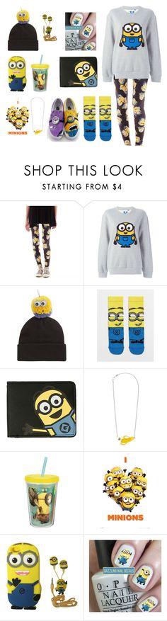 """MINION!!!!"" by bunny1020 ❤ liked on Polyvore featuring Hybrid Tees, Steve J & Yoni P, Piers Atkinson, ASOS, Vans, Tatty Devine and Zak! Designs"