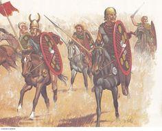 Third century B.C. Celtic cavalrymen. (Peter Connolly/Celts/user: Aethon)