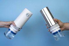 Filtered Water Bottle, Water Filter, Cool Gadgets, Voss Bottle, Filters, Ceramics, Drinks, Glass, Ceramica