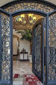 Opulent wrought iron door and archway | all the beauty things ⊱ղb⊰