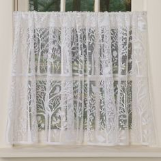 Tree Of Life Lace Tier Panel Country Curtains 174 Home