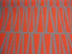 Geometric Curtain Fabric - Mirror Tinsmiths Orange