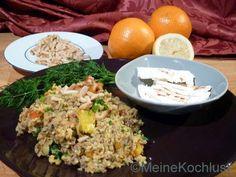 Meine Kochlust: Bulgursalat mit Hackfleisch, Schafskäse und Orange...