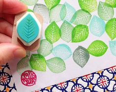 hand carved rubber stamp by talktothesun. woodland + botanical plant stamp series for your spring + autumn diy craft. Fabric Painting, Diy Painting, Diy And Crafts, Arts And Crafts, Clay Stamps, Fabric Stamping, Paper Crafts Origami, Boho Diy, Tampons