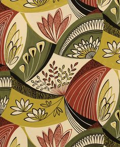 1950s original designs for wallcovering and textiles