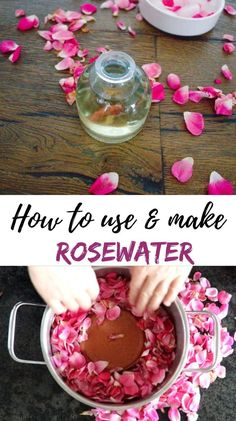 Rosewater hydrosol is also known as rose water, floral water, plant water, hydrolats, and hydrosol is created by boiling rose petals in water.  #herbalism, #herbalhealth, #naturalremedies, #skincareremedies, #herbaldiy #rosewaterhydrosol