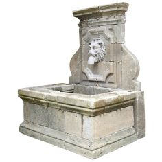 1stdibs - French Louis the 14th style stone wall fountain explore items from 1,700  global dealers at 1stdibs.com