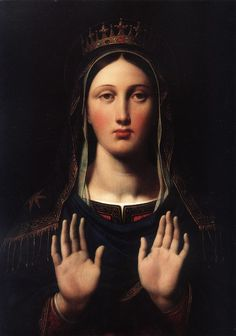 The Virgin with the Crown (1859). Jean-Auguste-Dominique Ingres (French, 1780-1867).: