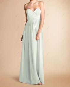 Long Bridesmaid Dress Bridesmaid Dress / Mint by DressSister, $89.99