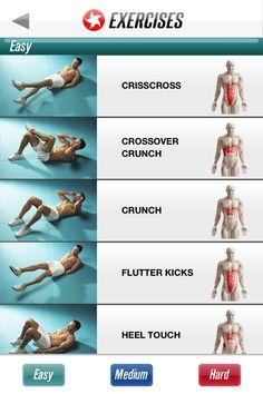 Targeted Ab Exercises: Easy, Medium, Hard