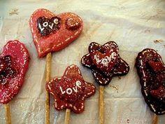 Primitive Valentine Crafts   Salt Dough Valentine Picks   Primitive Country Crafts