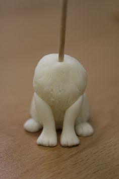 How To: Make a Fondant Dog Model - Renshaw Baking Dog Cake Topper, Cake Topper Tutorial, Fondant Cake Toppers, Fondant Tutorial, Fondant Cupcakes, Cupcake Toppers, Fondant Dog, Fondant Flower Cake, Fondant Animals