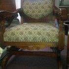Antique Oak Victorian Rocking Chair Parlor Chairs Set of 3