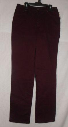 New Women's Gloria Vanderbilt Amanda Stretch Jeans 4 Missy Short Dark Purple #GloriaVanderbilt #Classic