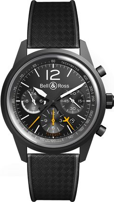 Bell & Ross BR126 Blackbird on Black Strap