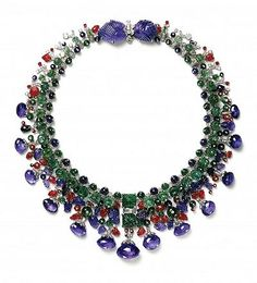 Cartier - Antique Jewelry University Daisy Fellowes Tutti Frutti Necklace. Photo Courtesy of the Cartier Collection.