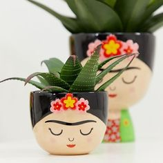 Shop Sass & Belle Frida Kahlo mini plant pot at ASOS.Page 2 - Discover women's homeware at ASOS. Choose from our range of houseware, kitchenware, bath accessories for women and many more. Indoor Plant Pots, Mini Plants, Potted Plants, Pots For Plants, Indoor Cactus, Cactus Cactus, Indoor Garden, Painted Plant Pots, Painted Flower Pots