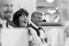 Natural smiles all round at the speeches. Wedding photography at the Woodlands Hotel, Broughty Ferry | Beautiful, natural, storytelling wedding photography | Anne Johnston Photography | #scottishweddings #weddingphotography