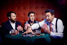 Radio Times poker photoshoot with David Mitchell, Rob Brydon and Lee Mack on Would I Lie to You?
