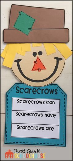 Packed with fun and engaging first grade writing activities for fall. Scarecrow craft, autumn poem, response to literature, fall letter and story writing, descriptive and information writing, etc.