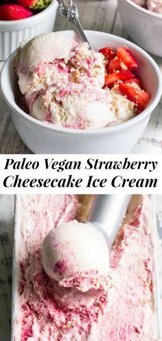 Paleo Ice Cream, Yummy Ice Cream, Dairy Free Ice Cream, Homemade Ice Cream, Ice Cream Recipes, Raw Ice Cream, Cashew Cream, Paleo Dessert, Bon Dessert