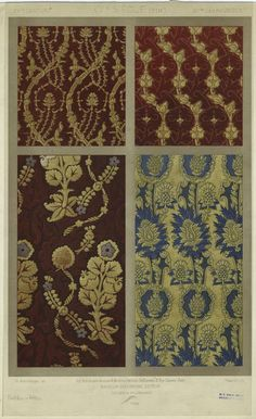15th century fabrics. Interesting to see how the designs changed over the next century.
