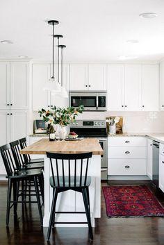 enviable black and white kitchen #KitchenChair
