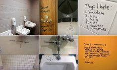 Now THAT's toilet humour! Bathroom graffiti sweeps the web