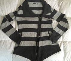 Athleta Gray Striped Cardigan Women's Sz S   eBay