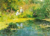"""""""Children fishing"""" by Vladimir Gusev."""