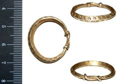 A resized image of Treasure Number 2008T141, gold finger-ring of Viking period.