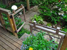 Toronto Gardens: An architect's handmade garden. Wood and copper pipe fence. Garden Gates, Garden Bridge, Garden Art, Home And Garden, Arbor Gate, Outdoor Art, Outdoor Ideas, Backyard Ideas, Garden Ideas