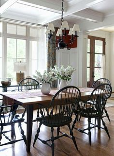 80 Best Farmhouse Dining Room Makeover Decor Ideas – Best Home Decorating Ideas Farmhouse Dining Room Table, Country Dining Rooms, Dining Table, Patio Dining, Country Living, Kitchen Dining, Sweet Home, Dining Room Inspiration, Dining Room Design