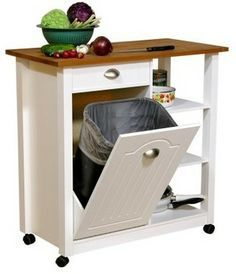 counter height hidden garbage can - Google Search