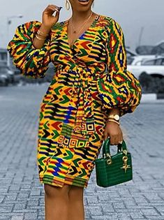 African Party Dresses, Short African Dresses, Latest African Fashion Dresses, African Print Fashion, Nigerian Dress Styles, African Dress Patterns, African Dress Designs, Mode Outfits, Fashion Outfits