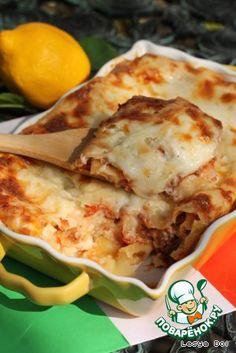 Лазанья болоньезе - кулинарный рецепт