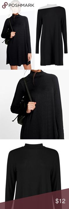 Black Long Sleeve Swing Dress Brand new. Great for many occasions. Light thin wear. Dresses Long Sleeve