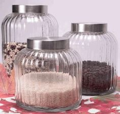 Great vintage glass canisters