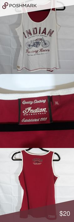 Indian motorcycle tank top Tank top with Indian motorcycle logo, extra large, length 27, pit to pit 21 indian motorcycle co. Tops Tank Tops