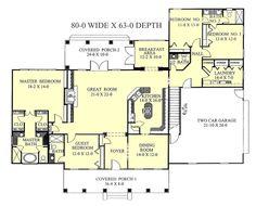 Southern Style House Plan - 4 Beds 3.5 Baths 2668 Sq/Ft Plan #44-118 Floor Plan - Main Floor Plan - Houseplans.com
