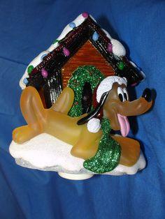Pluto Dog House Decorated for Christmas Nightlight Night Light Figurine Disney #Costco #Nightlight