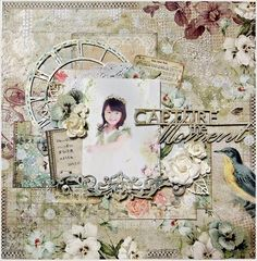 with colors: Blue Fern Studios DT work March 3 layouts