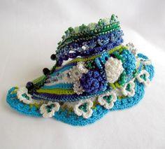 Bracelet Cuff Crochet Cuff Bracelet Beaded by SvetlanaCrochet
