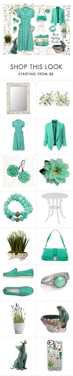 """Spring Look"" by sandralee33333 ❤ liked on Polyvore featuring Pier 1 Imports, HVN, LE3NO, Suneera, Seletti, John-Richard, Burberry, Calpierre, Sweet Romance and Potting Shed Creations"