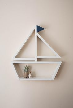 Sailboat Shelf Nautical Wall Decor