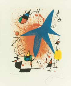 JOAN MIRÓ (Spanish, 1893-1983). Untitled, pl. 3 (from theportfolio Joan Miró Lithographs I), 1972. Lithograph