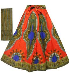 Clothing, Shoes & Jewelry > Women > Clothing > Skirts > Dashiki Maxi Skirts High Waisted African Ankara Print Long Skirts Elastic w/Belt G. Dashiki Skirt, Ankara Skirt, Maxi Skirts, Long Skirts, Elastic Waist Skirt, High Waisted Skirt, African Dashiki, Wrap Around Skirt, Handmade Skirts