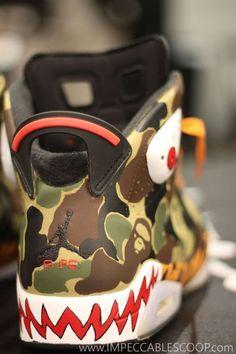 Air Jordan 6 BAPE Customs: