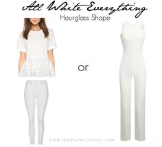 How to Wear the All White Look for Your Body Shape! - The Style Contour   how to wear all white for your body shape, all white outfit ideas for apple shape body, all white outfit for pear shape, all white outfit for hourglass, all white outfit for rectangular shape, athletic body shape, #allwhiteeverything, #allblackeverything, how to determine your body shape, how to dress your body shape, how to find your body shape, does white make you look bigger? can i wear all white if I'm plus sized?…